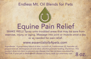 Equine-Pain-Releif-Label